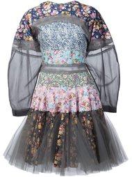 расклешенное платье в стиле пэчворк  Natasha Zinko