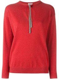 """свитер с вырезом """"замочная скважина"""" Brunello Cucinelli"""