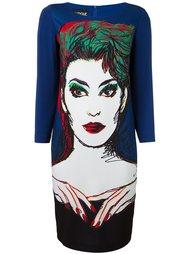 платье-шифт с принтом иллюстрации Boutique Moschino