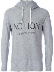 толстовка с принтом 'Action Is Eloquence'  Ganryu Comme Des Garcons