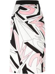 юбка миди с графическим принтом Marco Bologna