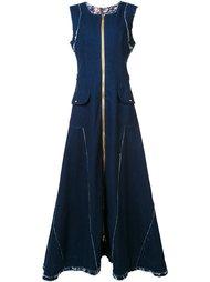 джинсовое платье макси на молнии Natasha Zinko