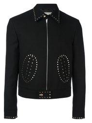 укороченная куртка с заклепками Saint Laurent