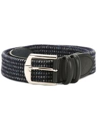 woven buckled belt Canali