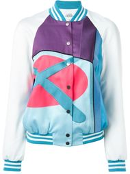 куртка-бомбер с абстрактным принтом Mira Mikati