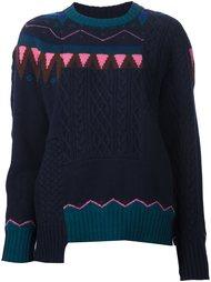 свитер со скандинавским узором Sacai