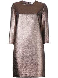короткое платье с эффектом металлик Gianluca Capannolo