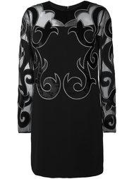 платье с вышивкой Fausto Puglisi