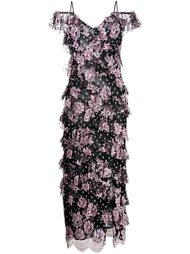 платье с цветочным принтом   Alessandra Rich