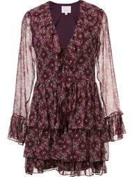 платье с оборками  Cinq A Sept