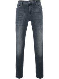 джинсы скинни с потертой отделкой 7 For All Mankind