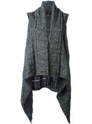 драпированное трикотажное пальто без рукавов Lost & Found Ria Dunn