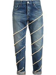 джинсы с нитями из жемчуга Tu Es Mon Tresor