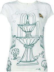 топ с принтом 'Victorian Garden' Dolce & Gabbana