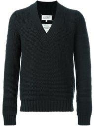 свитер c V-образным вырезом   Maison Margiela