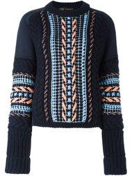 свитер свободного кроя с простроченным узором Versace