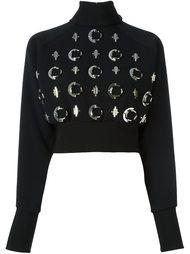 свитер с вышивкой  David Koma