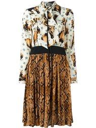 платье с комбинированным принтом Fausto Puglisi