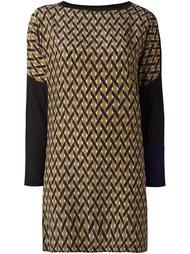 платье-шифт с геометрическим узором  Agnona