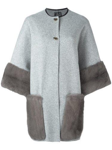 пальто с меховой отделкой Agnona