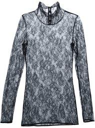 блузка из цветочного кружева Lanvin