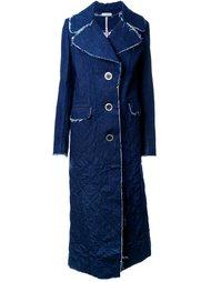 джинсовое однобортное пальто Natasha Zinko
