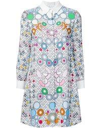 платье-рубашка с геометрическим узором  Peter Pilotto