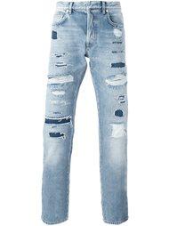 джинсы с потертой отделкой Dior Homme