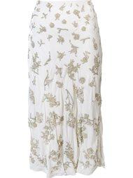 прямая юбка с блестящей отделкой Brock Collection