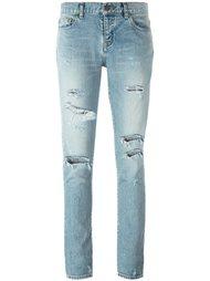 джинсы кроя скинни с потертой отделкой Saint Laurent
