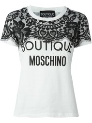 футболка с принтом логотипа Boutique Moschino