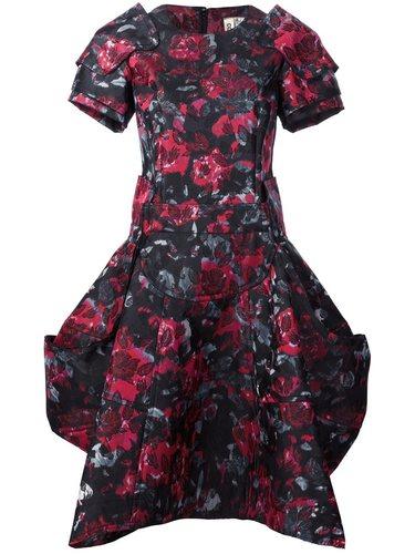 структурированное платье с цветочным рисунком Comme Des Garçons