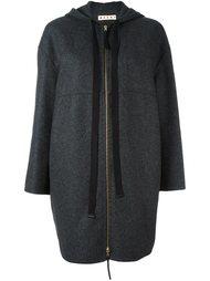 пальто на молнии с капюшоном Marni