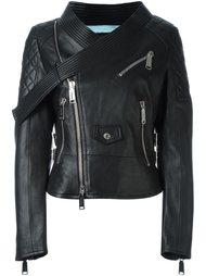 байкерская куртка с поясом на воротнике Dsquared2