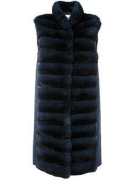 меховое пальто с панельным дизайном Manzoni 24