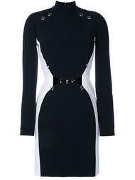 обтягивающее платье с длинными рукавами Mugler