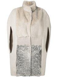 меховое пальто с прорезными рукавами Manzoni 24