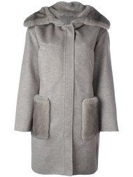 пальто с меховой отделкой Manzoni 24