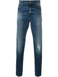джинсы кроя слим с потертой отделкой 7 For All Mankind