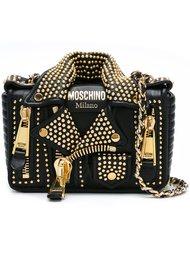 байкерская сумка на плечо Moschino