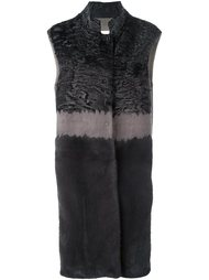 меховое пальто без рукавов Manzoni 24