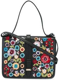 сумка-тоут с цветочной вышивкой Red Valentino