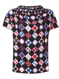 блузка с мозаичным принтом Emilio Pucci