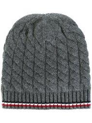 шапка вязки косичкой Moncler Gamme Bleu