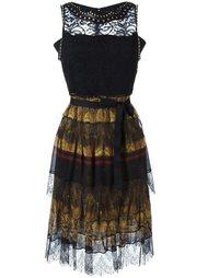 кружевное декорированное платье Etro