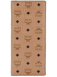 длинный кошелек с принтом логотипа MCM