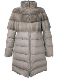 пальто-пуховик с высокой горловиной Manzoni 24
