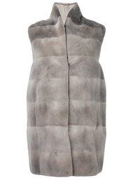 пальто с высокой горловиной без рукавов Manzoni 24