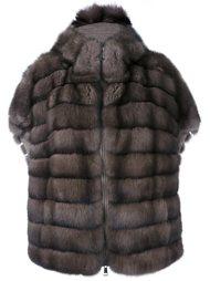 меховое пальто с короткими рукавами Manzoni 24