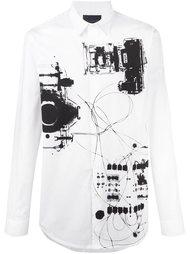 рубашка с принтом X-Ray Diesel Black Gold